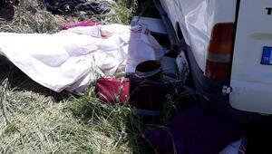 Tarım işçilerini taşıyan minibüs takla attı: 1 ölü, 7 yaralı