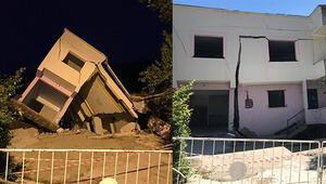 Çatlak büyüyor, tahliyeler sürüyor... 3 ev yıkıldı biri yana yattı