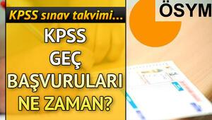 KPSS geç başvuruları hangi tarihte yapılacak 2019 KPSS ne zaman
