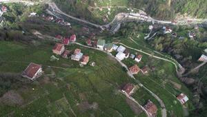Karadenizin apartman köyünden baş döndürücü manzara