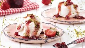 Ramazan sofralarında serinleten tatlı dondurma