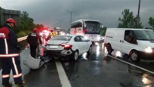 Düzcede zincirleme trafik kazası : 5 yaralı