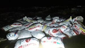 Muradiyede 2,4 ton kaçak avlanan inci kefali ele geçirildi