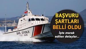 Sahil Güvenlik Komutanlığı uzman erbaş alımı başvuru şartları neler Başvurular ne zaman bitecek