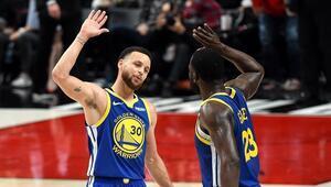 Curry ve Green iş başında Warriors 3-0 yaptı...