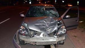 Feci kaza... Yaya öldü, araç hurdaya döndü