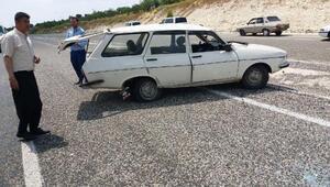 Besnide otomobil devrildi: 1 yaralı