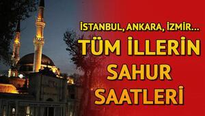 Bu gece sahur saat kaçta Ankara, İstanbul, İzmir ve diğer illerin sahur vakitleri