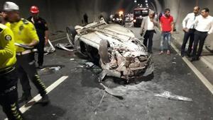 TIRa çarpan otomobilin sürücüsü yaralandı
