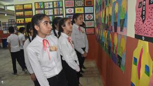 Okulun bodrum katını 'sanat galerisi'ne dönüştürdüler