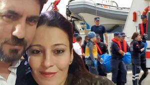 Fırtınada mahsur kaldılar Denize atlayan koca öldü, eşi kurtarıldı