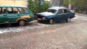 Beypazarında dolu yağışı etkili oldu