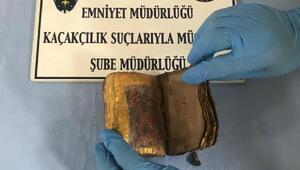 İzmirde, İbranice tarihi kitap ele geçirildi