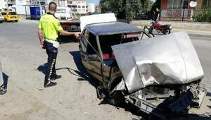Otomobiller çarpıştı: 1 yaralı