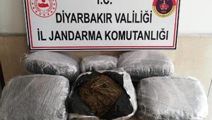 Diyarbakırda 47 kilo esrar ele geçirildi
