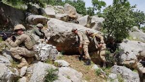 Eruhta PKKlı teröristlerin silah ve mühimmatı ele geçirildi