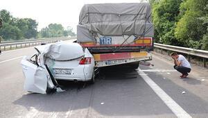 Korkunç kaza...