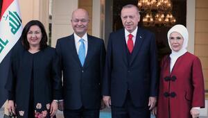 Erdoğan Irak Cumhurbaşkanı Berham Salıhi kabul etti
