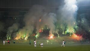 Tribünler alev alev Final maçında harika atmosfer