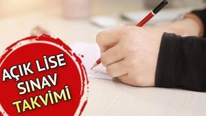 AÖL 3. dönem sınav programı | Açık lise sınavları ne zaman