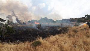 Tatil beldesinde yangın Alevler sitelere 5 metre kala durduruldu