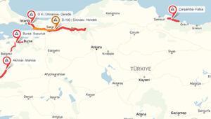 Yandex Navigasyon bayram trafiği haritasını çıkardı