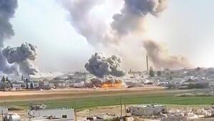 İdlib'de bombardıman sürüyor