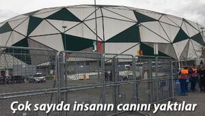 Stadyumda PKK için keşif yapmakla suçlanan sanıklar, hakim karşısına çıktı
