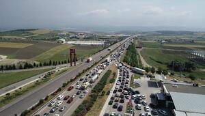 İstanbul - Bursa- İzmir yolunda trafik durma noktasında