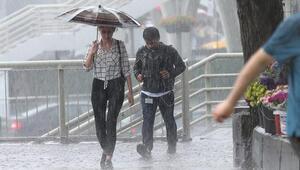 Meteoroloji yağmur için saat verdi Son dakika hava durumu verileri