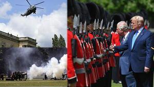 ABD Başkanı Trump, Buckingham Sarayı'nda resmi törenle karşılandı