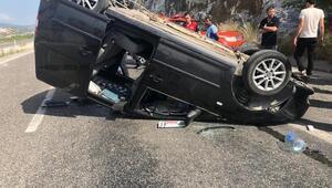 Kontrolden çıkan hafif ticari araç takla attı: 1 ölü, 2 yaralı