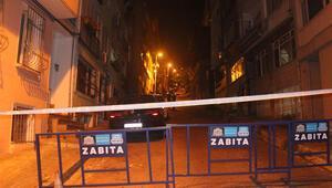 Beşiktaşta çökme tehlikesi bulunan metruk bina nedeniyle cadde kapatıldı