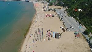 İstanbullular şehri terk etti, Şile plajları boş kaldı