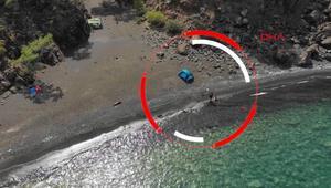 Koyda akrep soktu, yeri drone ile bulup kurtardılar