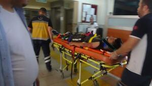 15 yaşındaki motosiklet sürücüsü kaza yaptı: 2 yaralı