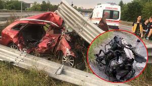 Feci kaza... İbre 150 kmde kaldı... Aracın motoru 10 metre ileriye uçtu