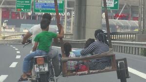 Sepetli motosikletle TEMde