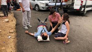 Hassada otomobiller çarpıştı: 1 ölü, 9 yaralı