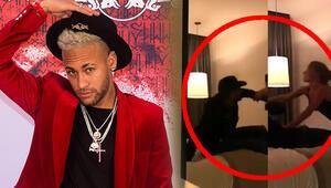 Neymarın otel görüntüleri ortaya çıktı Tecavüz iddiası...