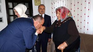 Çınarcık'ta şehit aileleri ziyaret edildi