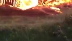 Çorumda köy evinde çıkan yangın 5 eve sıçradı