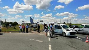 Tekirdağda iki otomobil çarpıştı: 7 yaralı