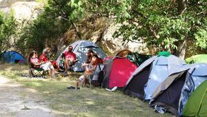 Kapadokya'da çadır festivali