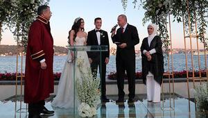 Cumhurbaşkanı Erdoğan nikah şahidi oldu... Mesut ve Amine çiftinin mutlu günü