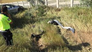 Kırıkkalede şarampole devrilen otomobildeki 5 kişi yaralandı