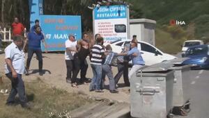 Beykoz'da yangın çıkan restoranın sahibi ile kardeşi yangın esnasında kavga ettiler