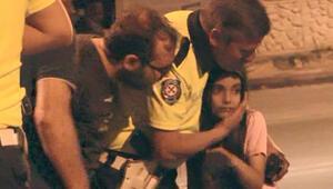 Küçük kız büyük korku yaşadı Polis sakinleştirdi...