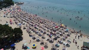 Tatilin son günü Kandıra plajları doldu