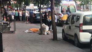 Esenlerde eşi ve iki çocuğunu ağır yaralayan baba 5.kattan atlayarak intihar etti (1)